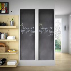 Дъска за писане на стена тип стикер, 0,6 x 3м, 2 ролки с тебешири - Аксесоари