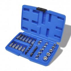 Комплект 34 бр torx битове и вложки еврейска звезда в куфарче - Инструменти
