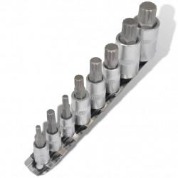 Sonata Комплект 12-стенни накрайници за гаечен ключ, 8 броя, с подложка - Инструменти и Оборудване