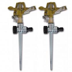 Импулсни разпръсквачи за напояване, цинк, метален клин - 2 бр. - Поливане, Напояване