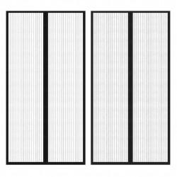 Врата против насекоми с велкро и магнит, черна, 210 x 100 см – 2 бр - Щори