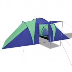 Палатка за къмпинг за 6 човека, цвят морско син/зелен - Палатки