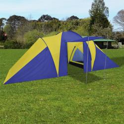 Палатка за къмпинг за 6 човека, цвят морско син/жълт - Палатки