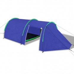 Водоустойчива палатка за къмпинг за 4 човека, цвят морско син/зелен - Палатки