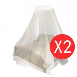 Sonata Мрежа против комари за легло, 2 бр, кръгла, 56x325x230 см - Спорт и Свободно време
