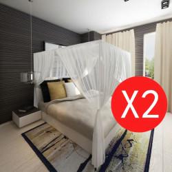 Мрежа против комари за легло, правоъгълна, 3 отвора – 2 броя - Спорт и Свободно време
