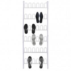 Бяла поставка за 18 чифта обувки - Шкафове за обувки