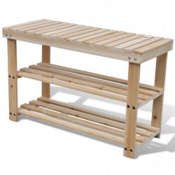 2 в 1 дървен стелаж за обувки с пейка - Сравняване на продукти