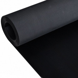 Гумена нехлъзгаща се настилка за под 2х1 м, тънки линии - Изтривалки и Поставки за чадъри