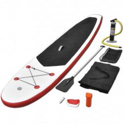 Борд за гребане, надуваем, червено и бяло - Водни спортове
