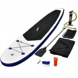 Борд за гребане, надуваем, синьо и бяло - Водни спортове