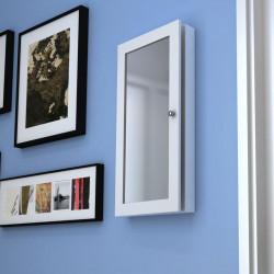 Стенен шкаф за бижута с огледало - Тоалетки