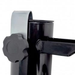 Sonata Държач за градински чадър, стомана, черен - Сенници и Чадъри