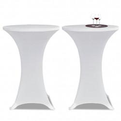 Еластични покривки за бар маси, диаметър 60 см, бели – 2 броя - Маси