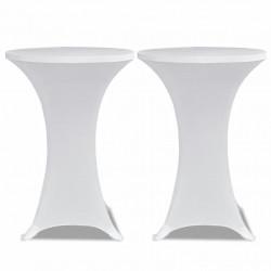 Еластични покривки за бар маси, диаметър 70 см, бели – 2 броя - Маси