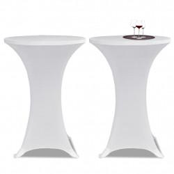Еластични покривки за бар маси, диаметър 80 см, бели – 2 броя - Маси