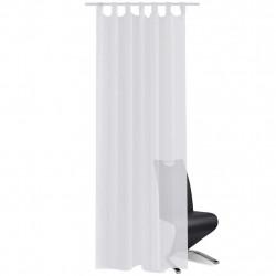 Бели прозрачни завеси 140 х 225 см – 2 броя - Завеси, Пердета и Кoрнизи