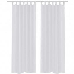 Бели прозрачни завеси 140 х 245 см – 2 броя - Завеси, Пердета и Кoрнизи