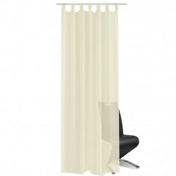 Кремави прозрачни завеси 140 х 245 см – 2 броя - Завеси, Пердета и Кoрнизи