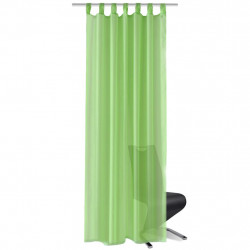 Зелени прозрачни завеси 140 х 175 см – 2 броя - Завеси, Пердета и Кoрнизи