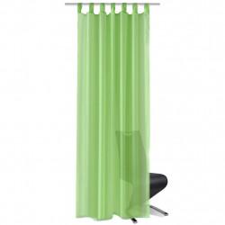 Зелени прозрачни завеси 140 х 245 см – 2 броя - Завеси, Пердета и Кoрнизи
