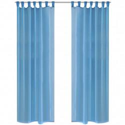 Тюркоазени прозрачни завеси 140 х 225 см – 2 броя - Завеси, Пердета и Кoрнизи