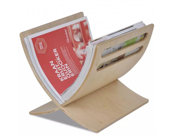 Sonata Дървена стойка за списания, цвят натурално дърво -