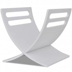 Sonata Дървена стойка за списания, цвят бял - Изтривалки и Поставки за чадъри