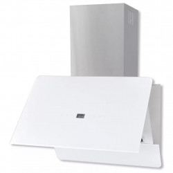 Sonata Абсорбатор, закалено стъкло, бял, 600 мм - Аспиратори