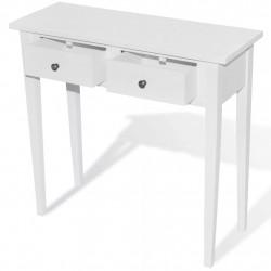 Sonata Конзолна маса с 2 чекмеджета, бяла - Тоалетки
