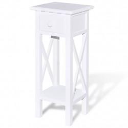Sonata Странична маса с чекмедже, бяла - Тоалетки