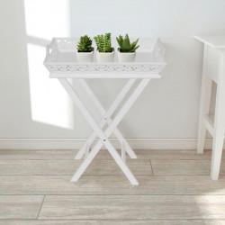 Sonata Странична маса с табла, бяла - Тоалетки