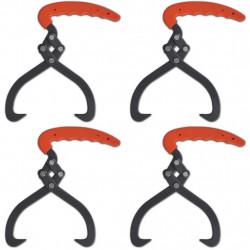 Клещи за дърва с PVC дръжка - 4 броя - Инструменти