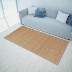 Правоъгълен кафяв бамбуков килим 80 х 200 см - Килими, Мокети и Подложки