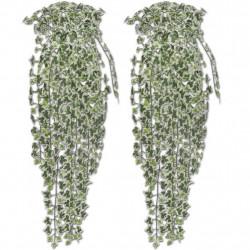 Изкуствен бръшлянов храст 90 см, шарен, 2 броя - Изкуствени цветя
