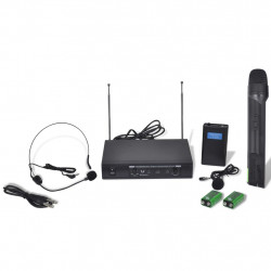Приемник с 1 безжичен VHF микрофон и 1 безжични VHF слушалки - Аксесоари за Всекидневна