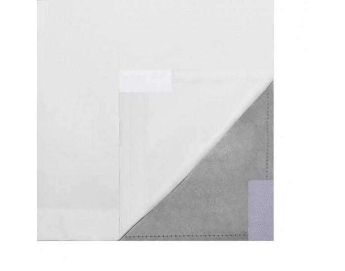2 бр Енергоспестяващи плътни завеси, двуслойни, бели, 140 х 245 см -