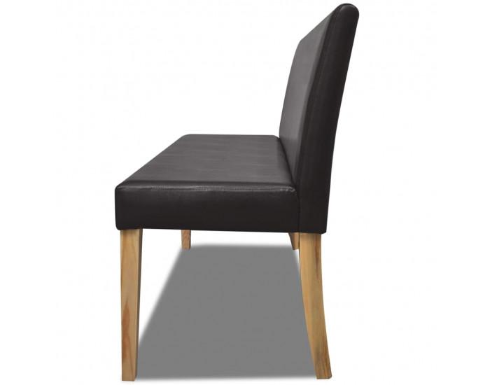 Луксозна пейка за дома или офиса, цвят: тъмнокафяв -