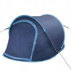 Саморазгъваща се палатка, двуместна, тъмносиньо и светлосиньо - Палатки