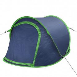 Саморазгъваща се палатка, двуместна, тъмносиньо и зелено - Палатки