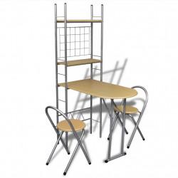 Кухненски комплект 1 сгъваема маса и 2 сгъваеми стола - Комплекти маси и столове