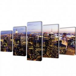 Декоративни панели за стена Ню Йорк от птичи поглед, 100 x 50 см - Картини, Плакати, Пъзели