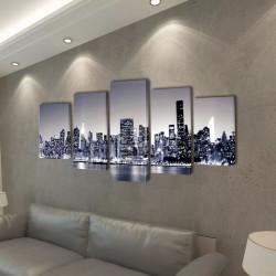 Декоративни панели за стена Ню Йорк в черно-бяло, 100 x 50 см - Картини, Плакати, Пъзели