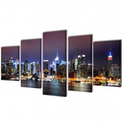 Декоративни панели за стена Ню Йорк в цветове, 100 x 50 см - Картини, Плакати, Пъзели