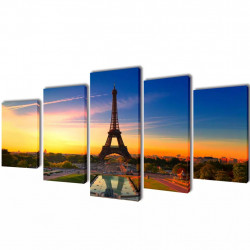 Декоративни панели за стена Айфелова кула, 100 x 50 см - Картини, Плакати, Пъзели
