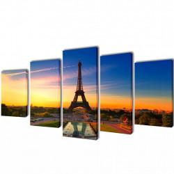 Декоративни панели за стена Айфелова кула, 200 x 100 см - Картини, Плакати, Пъзели