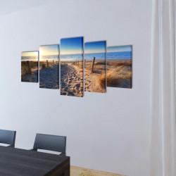 Декоративни панели за стена Плаж, 100 x 50 см - Картини, Плакати, Пъзели