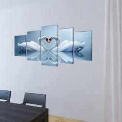 Декоративни панели за стена Лебед, 100 x 50 см - Картини, Плакати, Пъзели