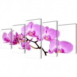 Декоративни панели за стена Орхидея, 100 x 50 см - Картини, Плакати, Пъзели