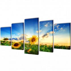 Декоративни панели за стена Слънчоглед, 100 x 50 см - Картини, Плакати, Пъзели